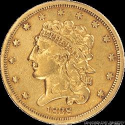 1838 Classic Head $5 Gold Half Eagle Choice AU