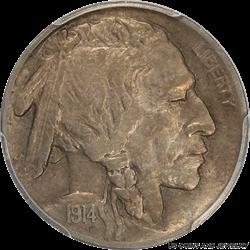 1914-S Buffalo Nickel PCGS AU50