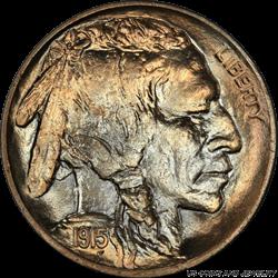 1915-P Buffalo Nickel PCGS MS67 - Outstanding Original Color