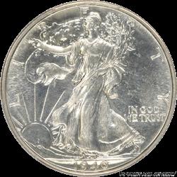 1940 Walking Liberty Half Dollar PCGS PR65 Very Nice White Coin, Light Cameo