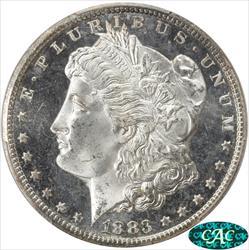 1883-CC Morgan Silver Dollar PCGS MS65 DMPL CAC Deep Mirror Proof like