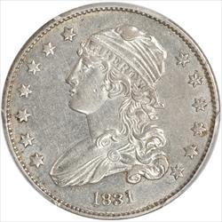 1831  Capped Bust Quarter PCGS AU53 Large Letters