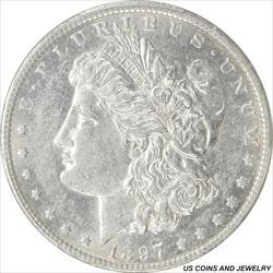 1897-O Morgan Silver Dollar PCGS AU55