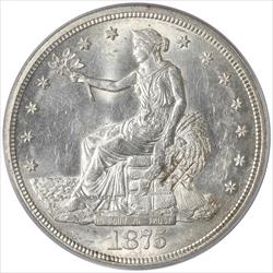 1875-S Trade Dollar PCGS MS62 With Chop Marks
