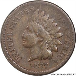 1877 US Indian Cent Very Good+ Low Mintage Rare in all grades