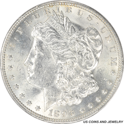 1896-O Morgan Silver Dollar PCGS MS61 Frosty White Brilliant Luster