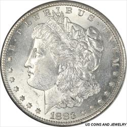 1883-S Morgan Silver Dollar Select Uncirculated Frosty White