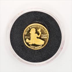 Disney Rarities Mint 1/4 Troy OZ 999 Gold SNOWWHITE 50th Anniversary Series