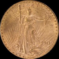 1911-D Saint St. Gaudens $20 Gold Double Eagle OGH PCGS MS 62