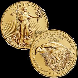 2021 1OZ Gold Eagle Type 2 New Design