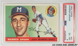 1955 TOPPS WARREN SPAHN #31 PSA EX - MT 6