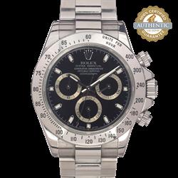 Rolex 40mm Daytona 116520 Stainless Steel Bezel Watch and Card