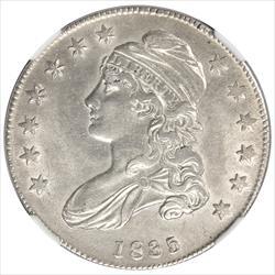 1835 Capped Bust Half Dollar NGC AU58