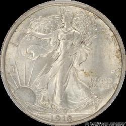 1918-D Walking Liberty Half Dollar PCGS MS62
