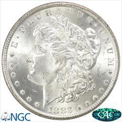 GSA 1883-CC Morgan Silver Dollar NGC and CAC MS64+