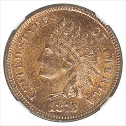 1875 Indian Cent NGC MS63RB