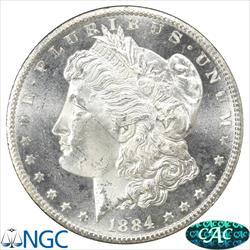GSA 1884-CC  Morgan Silver Dollar NGC and CAC MS64 PL