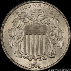 1868 Shield Nickel PCGS MS64