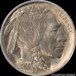 1914-D Buffalo Nickel PCGS MS65