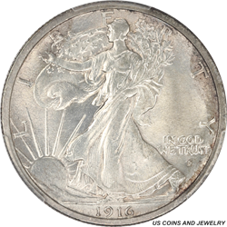 1916-D Walking Liberty Half Dollar PCGS