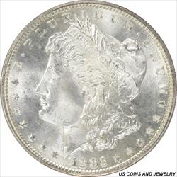 1882-S Morgan  Silver Dollar PCGS MS66 Crescent toned Reverse