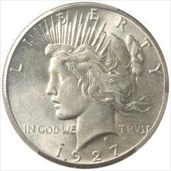 1927 Peace Dollar PCGS AU58