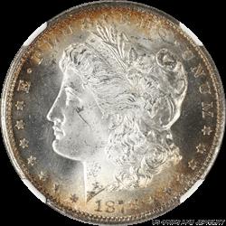 1878-CC Morgan Silver Dollar NGC MS63 Golden Halo Toned w Cartwheel Luster