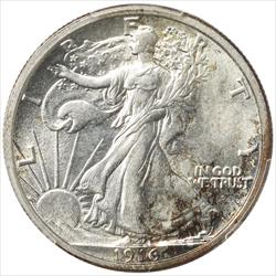 1916-D Walking Liberty Half Dollar PCGS MS62 Frosty Select Uncirculated