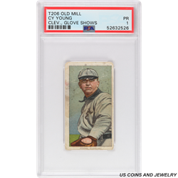 T206 OLD MILL CY YOUNG GOLVE SHOWS PSA PR 1