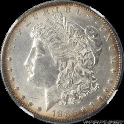 1886-O Morgan Silver Dollar NGC MS61