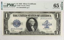 $1 1923 SILVER CERTIFICATE FR#238 PMG GU65 EPQ