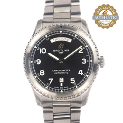 Breitling 41mm Aviator RN/ A45330 Watch and Card