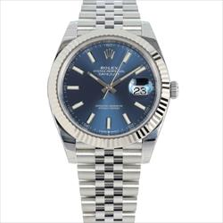 Rolex 41mm Datejust 126334 Blue Stick Dial Box and Card with Stickers