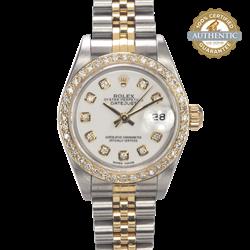 Rolex  26mm Datejust 79173 TT SS & 18K YG DB & 10 Diamond Dial 2002 Watch Only