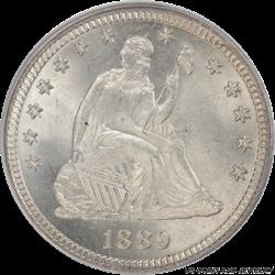 1889 Seated Liberty Quarter PCGS MS66