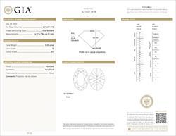 GIA Certified 3.2 Oval Cut Loose Diamond D SI1