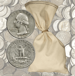 $500 Face Value 90% Silver Quarters - 2000 total coins 1964 and before