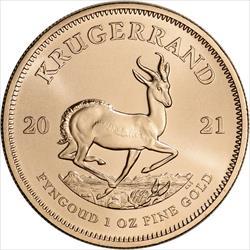 2021 1 OZ SOUTH AFRICAN GOLD KRUGERRAND