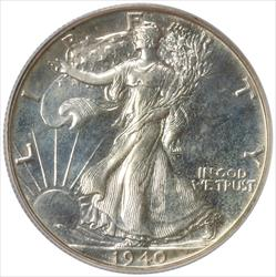 1940 Walking Liberty Half Dollar PCGS PR 64
