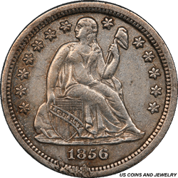 1856-S Seated Liberty DimePCGS Genuine First Year of San Francisco Dimes