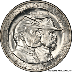 1936 Gettysburg Half Dollar Commemorative PCGS MS65