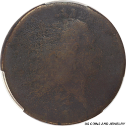 1793 Flowing Hair - Wreath Cent Lettered Edge PCGS P/FR Detail - Nice Filler