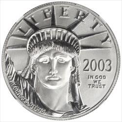 2003 $100 American Platinum Eagle NGC MS70
