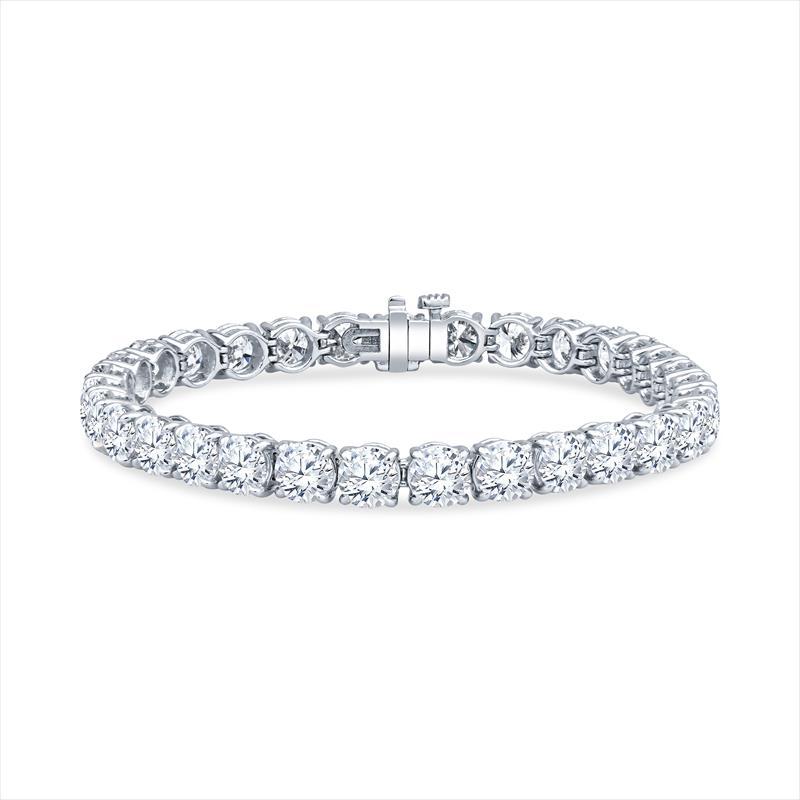 22.01cttw Diamond and Platinum Tennis Bracelet - 31 Round Diamonds .71ct Each