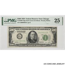 1928 $500 Federal Reserve Note , Fr 2200G PMG Very Fine 25 - Nice Note