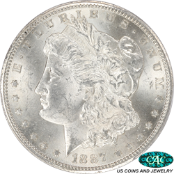 1887-S Morgan Silver Dollar PCGS and CAC MS63