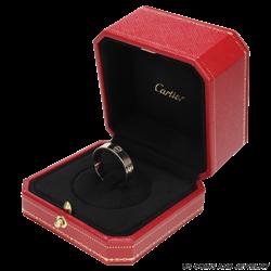 Mens 18k White Gold Cartier Love Ring