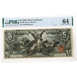 1896 $5 SILVER CERTIFICATE EDUCATIONAL BILL