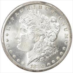 1880-CC Morgan Silver Dollar $1 PCGS MS65 Frosty White GEM BU