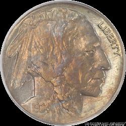 1924-S Buffalo Nickel PCGS MS 62